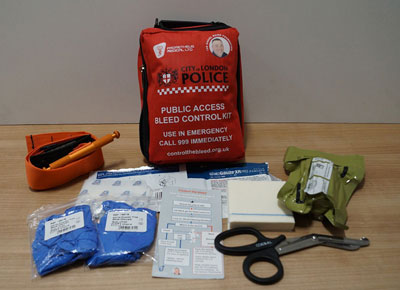 London Police distribute Bleed Controls Kits to Pubs, Nightclubs and evening venues in London.