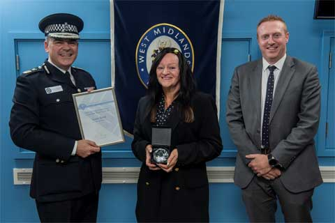 Lynne Baird Awarded the West Midlands Police and Crime Commissioner's Community Thank You Award